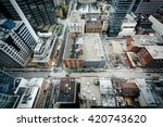 view of buildings along... | Shutterstock . vector #420743620
