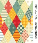 Colorful Quilting. Seamless...