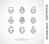 set of linear icons support and ... | Shutterstock .eps vector #420745933