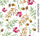 Seamless Pattern With Foliage ...