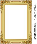 gold photo frame with corner... | Shutterstock .eps vector #420746968