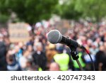 protest. public demonstration.... | Shutterstock . vector #420747343