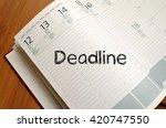 deadline text concept write on... | Shutterstock . vector #420747550