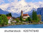 Brienz Town On Lake Brienz By...