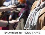 press interview. press... | Shutterstock . vector #420747748