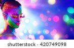 uv woman portrait   creative... | Shutterstock . vector #420749098