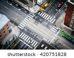 Aerial View Of The Intersectio...