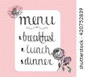 vintage food menu design  cover ... | Shutterstock .eps vector #420752839