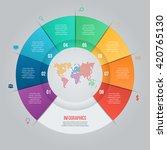 vector pie chart template for... | Shutterstock .eps vector #420765130