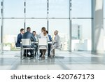 business people at meeting  | Shutterstock . vector #420767173