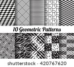 set of 10 abstract patterns.... | Shutterstock .eps vector #420767620