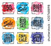 summer offer stickers with... | Shutterstock .eps vector #420768898