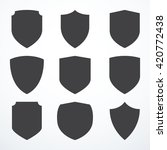 set of shield icons | Shutterstock .eps vector #420772438