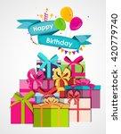 happy birthday card template...   Shutterstock .eps vector #420779740