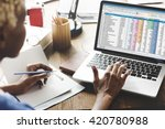 spreadsheet document... | Shutterstock . vector #420780988