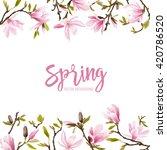 spring blossom background  ... | Shutterstock .eps vector #420786520