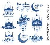Set Of Emblems For Islamic Hol...