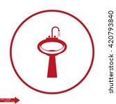 washbasin icon. washbasin icon...