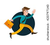 businessman running in the... | Shutterstock .eps vector #420797140