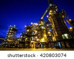 pipes and buildings at big... | Shutterstock . vector #420803074