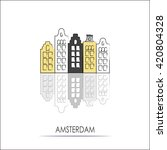 vector amsterdam icon. city... | Shutterstock .eps vector #420804328