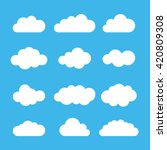 cloud icon set. different cloud ... | Shutterstock .eps vector #420809308