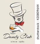 dandy or men club emblem with... | Shutterstock .eps vector #420809644