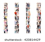 many colleagues together we... | Shutterstock . vector #420814429