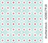 beautiful old ceramic tile wall ... | Shutterstock . vector #420817918