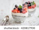 layered light healthy dessert ... | Shutterstock . vector #420817930