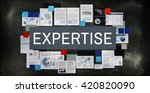 expertise competence brilliant... | Shutterstock . vector #420820090