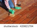woman applying protective... | Shutterstock . vector #420821704