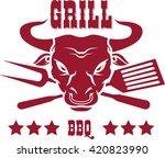 steak house emblems templates....   Shutterstock .eps vector #420823990