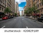 new york city manhattan empty... | Shutterstock . vector #420829189