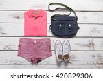 sport summer clothing. youth... | Shutterstock . vector #420829306