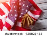 american flag and old book.... | Shutterstock . vector #420829483