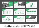 set of green infographic... | Shutterstock .eps vector #420829540