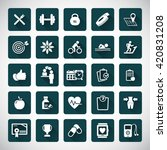 fitness icons set   set of... | Shutterstock .eps vector #420831208