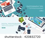 photography equipment with... | Shutterstock .eps vector #420832720