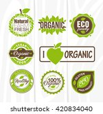 organic food labels and badges. ... | Shutterstock .eps vector #420834040