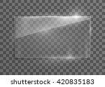 vector glass frame. isolated on ... | Shutterstock .eps vector #420835183