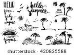 Hand Drawn Ink Summer Design...