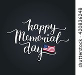 vector happy memorial day card. ... | Shutterstock .eps vector #420836248