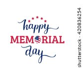 Vector Happy Memorial Day Card...