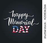 vector happy memorial day card. ...   Shutterstock .eps vector #420836266