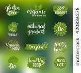 vector eco  organic  bio logos... | Shutterstock .eps vector #420836278