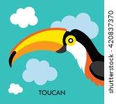 Cartoon African Toucan Bird....