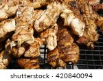 food meat on grill | Shutterstock . vector #420840094
