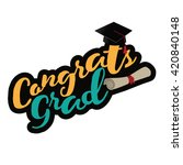 graduation mortarboard and... | Shutterstock .eps vector #420840148