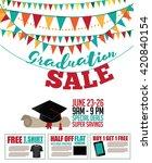 graduation sale bunting ... | Shutterstock .eps vector #420840154